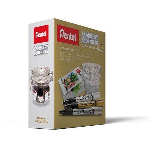 Zestaw PENTEL Markery MMP20 + świecznik (szarości) (5902894021824)