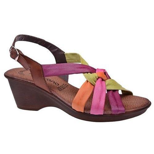 Hiszpańskie sandały 1044 multicolor damskie na haluksy marki Verano