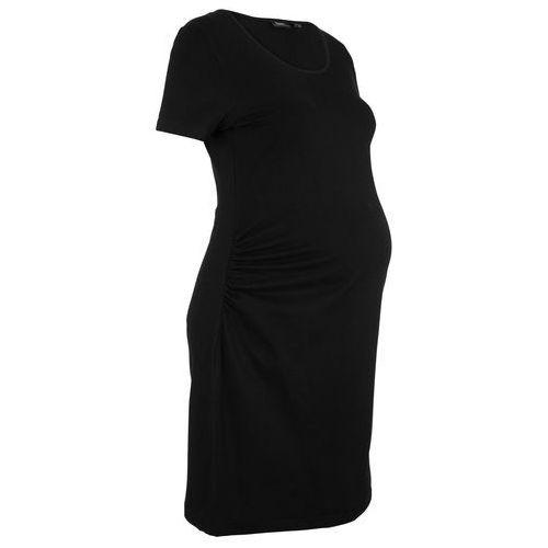 Bonprix Sukienka ciążowa shirtowa czarny