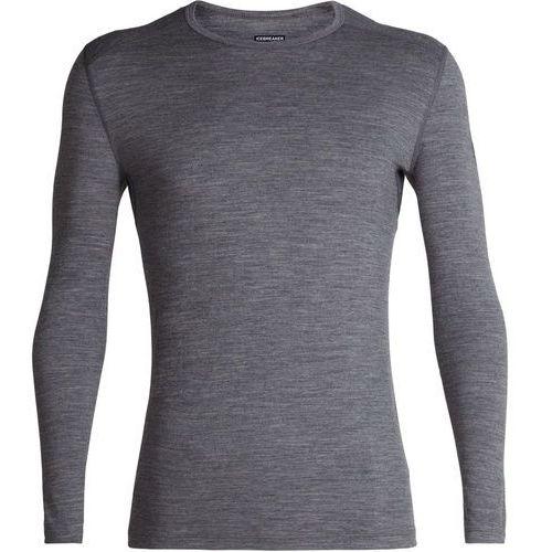 Icebreaker 200 oasis koszulka z długim rękawem mężczyźni, gritstone heather l 2019 podkoszulki z długim rękawem