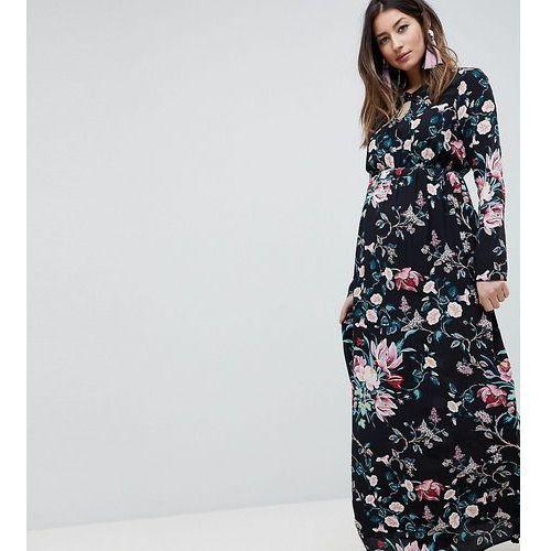 1731fad5b2b Asos design maternity long sleeve printed maxi dress - multi marki Asos  maternity