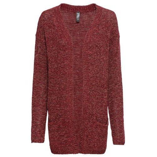 Sweter z puszystej dzianiny bonprix ciemnoniebiesko-fuksja, kardigan