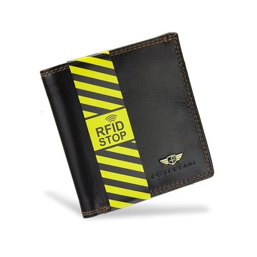 73689faab89da0 Portfel Męski Skórzany 377 Brązowy RFID STOP Piekiełko (Peterson ...