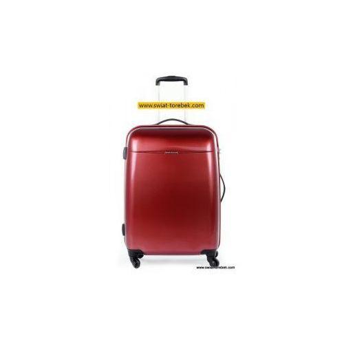 Puccini walizka duża z kolekcji pc005 voyager twarda 4 koła materiał policarbon zamek szyfrowy z systemem tsa