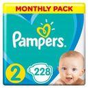 PAMPERS New Baby Pieluchy 2 Mini 228szt pieluszki Zapas