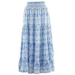 Długa spódnica, kolekcja maite kelly biało-błękitny marki Bonprix