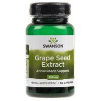Kapsułki Swanson Grape Seed ekstrakt (ekstrakt z nasion winogron) 200 mg - 60 kapsułek