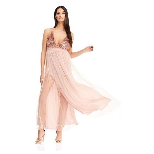 b90ff270 Sugarfree Sukienka diona w kolorze różowego złota - Oladi.pl ...