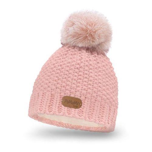 Pamami Zimowa czapka dziewczęca - pudrowy róż - pudrowy róż (5902934023443)