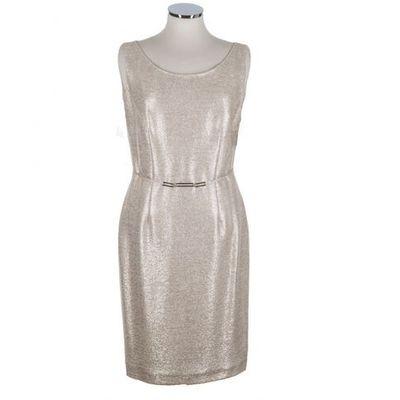 Suknie Sukienki Kremowa Sukienka Na Wesele Rozowo Zloty Dol W
