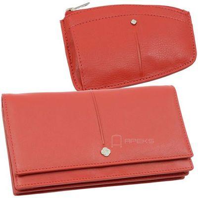 01f869a5a4455 slim light 144-550-04 + 144-525-04 zestaw portfel skórzany damski plus etui  skórzane na klucze - czerwony marki Samsonite Apeks.pl