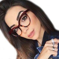 Okulary damskie kujonki zerówki czerwone