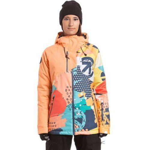Meatfly damska kurtka narciarska deborah jacket papaya/pastel splash s