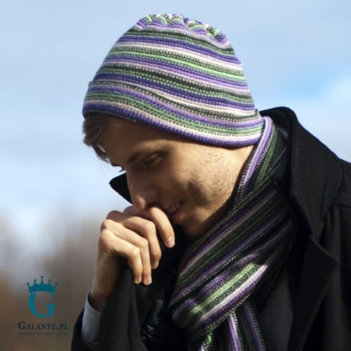 Wrzosowy zestaw czapka + szalik slw-8 The scarf