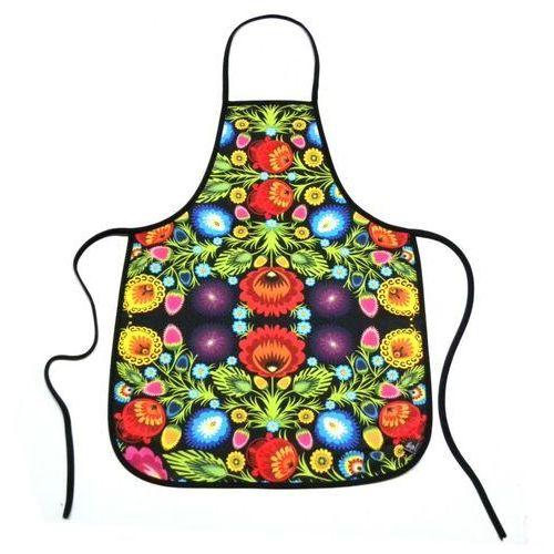Fartuszek kuchenny z nadrukiem ludowym  kwiaty łowickie 1 marki Pracownia artystyczna