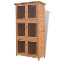 Vidaxl klatka dla królików z 6 komorami, drewniana (8718475969181)