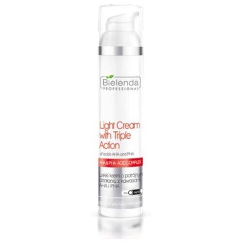 Bielenda Professional LIGHT CREAM WITH TRIPLE ACTION OF ACIDS AHA AND PHA Lekki krem o potrójnym działaniu z kwasami AHA i PHA (100 ml)