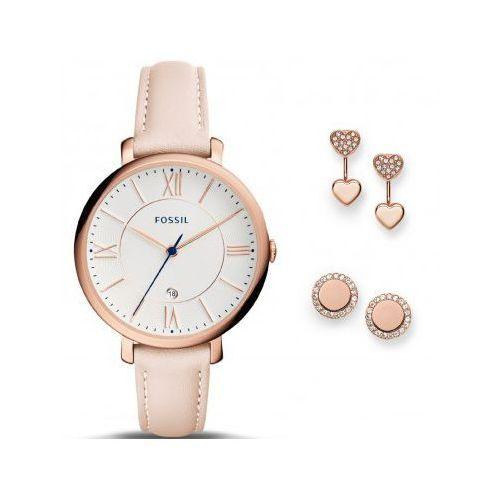 Fossil es4202set jacqueline - zegarek damski + kolczyki fossil zestaw - sale -40%