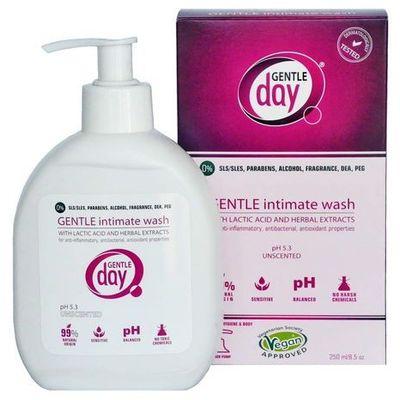 Płyny i mydła do higieny intymnej GENTLE DAY Dystrybutor: Bio Planet S.A., Wilkowa Wieś 7, 05-084 Leszno
