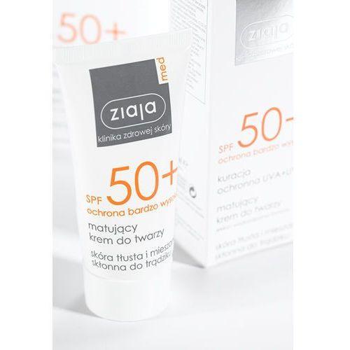 Ziaja med protecting uva + uvb krem matujący do opalania twarzy spf 50+ 50 ml - Ekstra upust