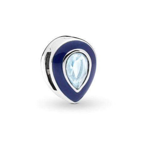 Rodowany srebrny charms pandora koralik reflexions łezka kropla migdał cyrkonia srebro 925 bead195rh marki Valerio.pl