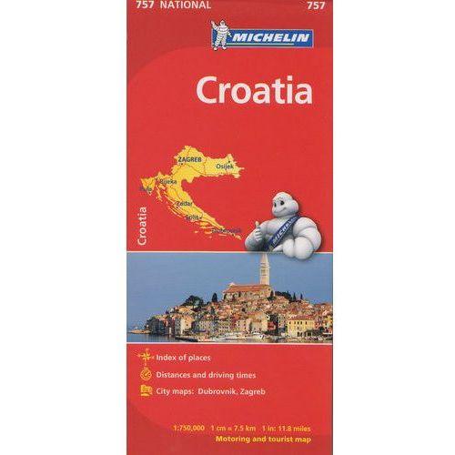 Chorwacja mapa 1:750 000 Michelin, oprawa twarda