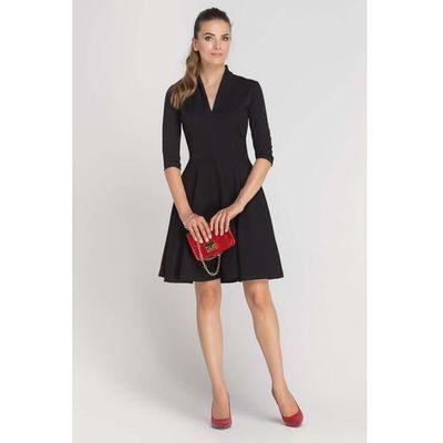 a27d47eeb1 suknie sukienki czarna sportowa sukienka z dekoltem v bez rekawow ...