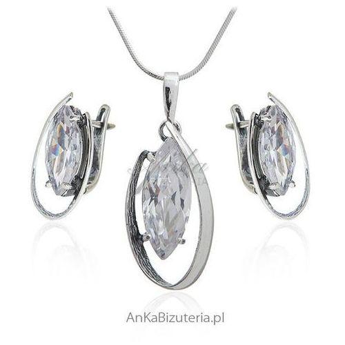 Komplet biżuterii srebrnej z cyrkonią Biżuteria na prezent