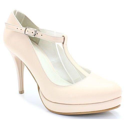 mariola beżowe - buty ślubne z podsuwką marki Tymoteo