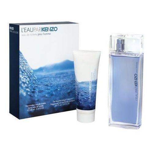 Kenzo l eau par kenzo pour homme zestaw - woda toaletowa 100 ml spray + żel pod prysznic 75 ml (3274871929204)