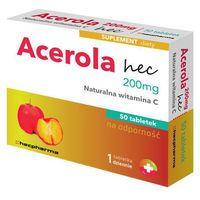 ACEROLA Naturalna witamina C 200mg x 50 tabletek