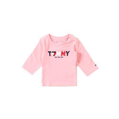 Tommy hilfiger koszulka 'baby girl tommy tee l/s' różowy