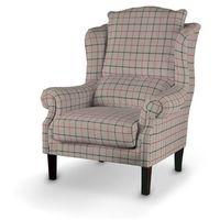 Dekoria fotel, czerwono- szara krata na beżowo- szarym tle, 85x107cm, edinburgh