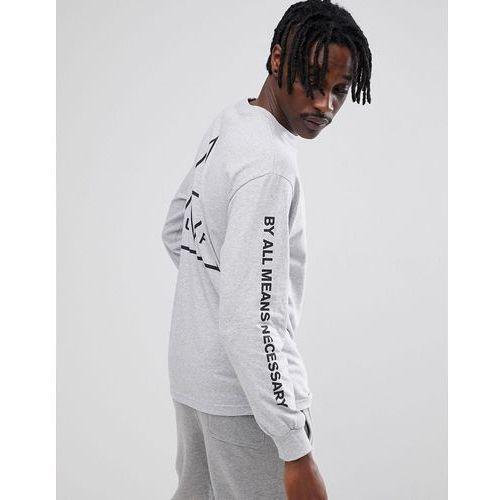 kup dobrze przystępna cena ogromny wybór Triple triangle long sleeve t-shirt in grey - grey (HUF)