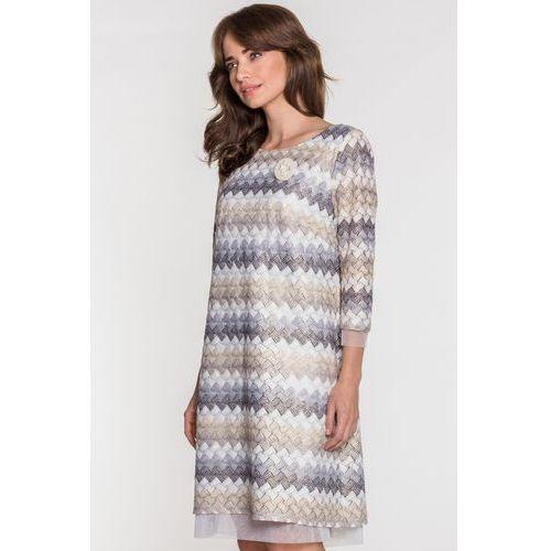 9645b46891 Zobacz ofertę Sukienka w zygzaki MIRIAM