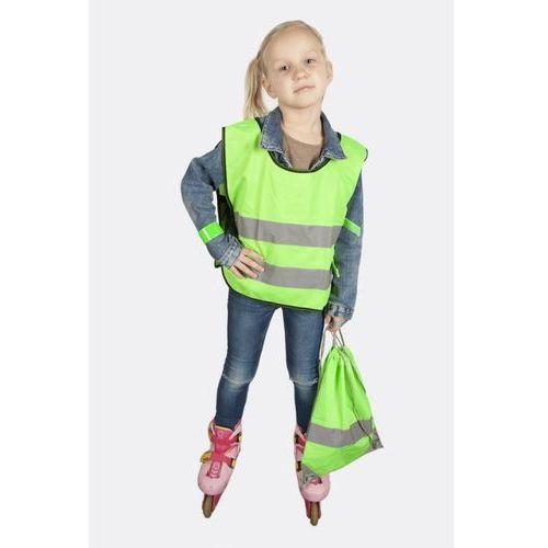Kamizelka odblaskowa dla dzieci XS 90-110cm - xs \ zielony
