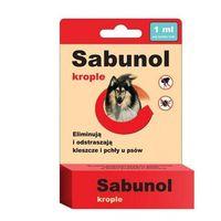 DERMAPHARM Sabunol krople przeciw pchłom i kleszczom dla psów o wadze 5-10kg 1ml