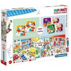 Clementoni Zestaw superkit whats the job 2x30 elementów + memo + domino