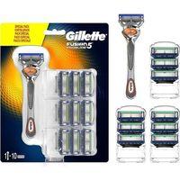 Gillette Fusion 5 Proglide zestaw Maszynka do golenia z jednym ostrzem 1 szt + Zapasowe ostrze 9 szt dla mężczyzn