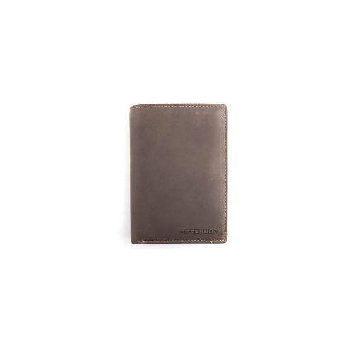 f4dcc5216009b Brązowy męski portfel skórzany nubuk 317 2-1-4 (PETERSON) - sklep ...
