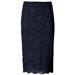 Spódniczka koronkowa bonprix ciemnoniebieski, 1 rozmiar