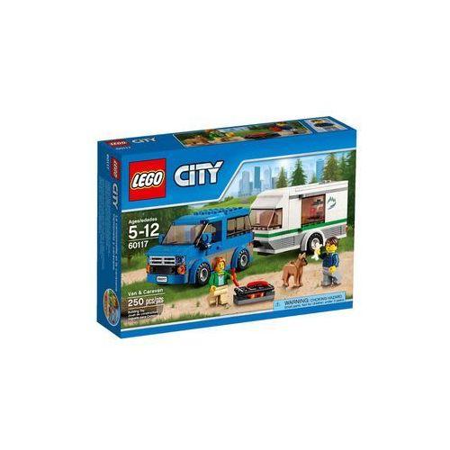 60117 WÓZ Z PRZYCZEPĄ KEMPINGOWĄ Van & Caravan KLOCKI LEGO CITY wyprzedaż