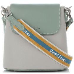 7f1700b1d3aa0 Modne dwukolorowe torebki damskie firmowe listonoszki wykonane z wysokiej  jakości skóry ekologicznej zielono-szare (kolory) marki David jones.jpg