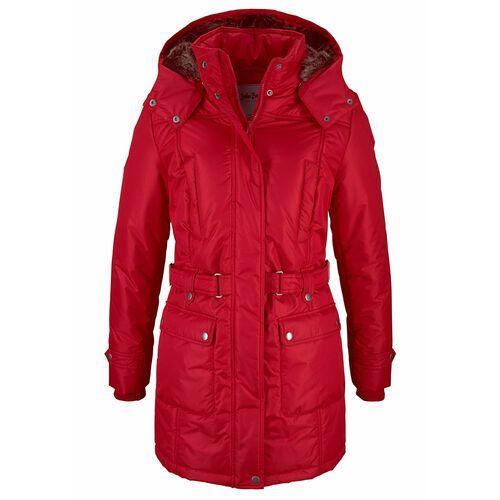 Płaszcz zimowy bonprix ciemnoczerwony, poliester