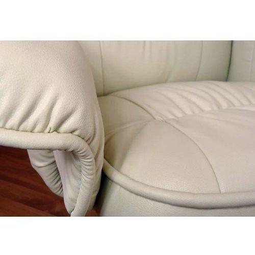 Fotel Masujący Wypoczynkowy Z Masażem Ogrzewanie Kremowy Ecru Regoline