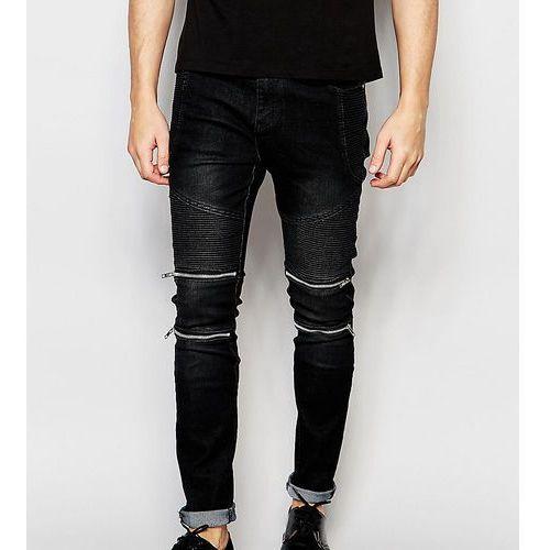 31d5fba518f1 Skinny zip biker jeans in black - black (Liquor N Poker) - sklep ...