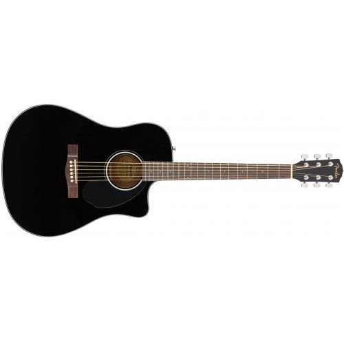 Fender cd-60sce dreadnought black wn gitara elektroakustyczna