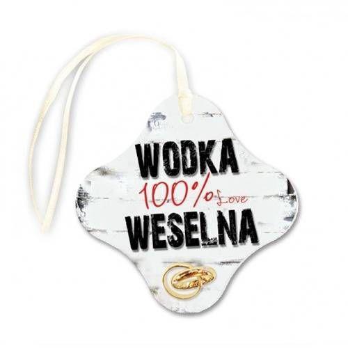Dp Zawieszki na wódkę weselną zaokrąglony kwadrat - 20 szt.
