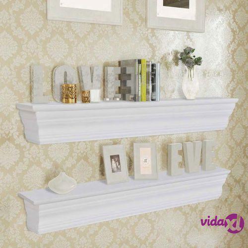 Półki ścienne Aaliyah 2 Sztuki Białe Vidaxl