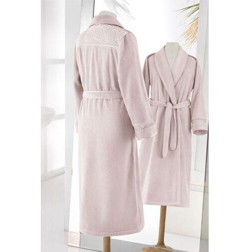 f374b9004584de Zobacz ofertę Soft cotton Damski elegancki szlafrok queen w ozdobnym  opakowaniu l lila